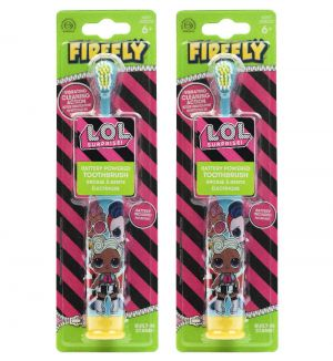 (BUNDLE OF 2) FIREFLY LOL SURPRISE BATTERY POWERED TOOTHBRUSH