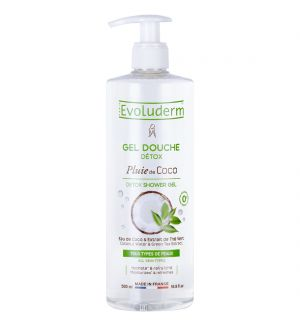 EVOLUDERM DETOX SHOWER GEL WITH COCONUT WATER & GREEN TEA EXTRACT 500ML