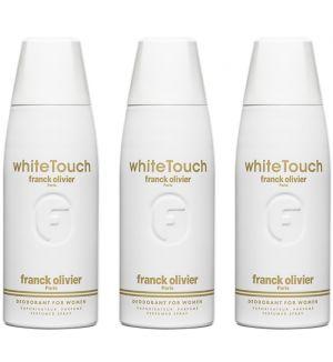 (BUNDLE OF 3) FRANCK OLIVIER WHITE TOUCH DEODORANT SPRAY FOR WOMEN 250ML