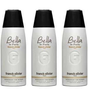 (BUNDLE OF 3) FRANCK OLIVIER BELLA IN PARIS DEODORANT SPRAY FOR WOMEN 250ML
