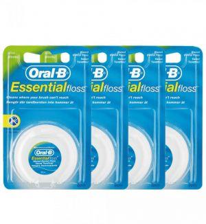 (BUNDLE OF 4) ORAL B ESSENTIAL FLOSS MINT 50M