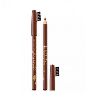 EVELINE EYEBROW PENCIL WITH BRUSH BROWN