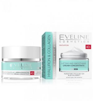 EVELINE HYALURON & COLLAGEN LIFTING & SMOOTHING CREAM-CONCENTRATE 50ML 40+