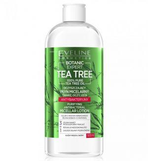 EVELINE BOTANIC EXPERT TEA TREE PURIFYING ANTIBACTERIAL MICELLAR LOTION 500ML