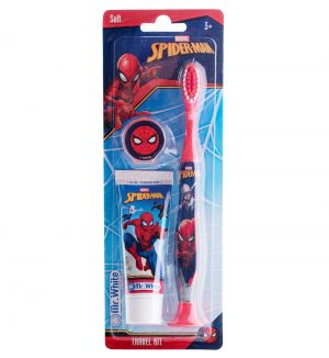 MR WHITE SPIDERMAN TRAVEL KIT TOOTHBRUSH WITH TOOTHPASTE 25ML