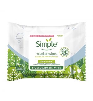 SIMPLE KIND TO SKIN BIODEGRADABLE MICELLAR CLEANSING WIPES 20S