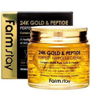 FARM STAY 24K GOLD & PEPTIDE PERFECT AMPOULE CREAM 80ML