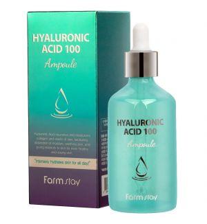 FARM STAY HYALURONIC ACID 100 AMPOULE 100ML