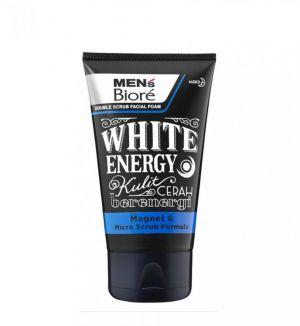 BIORE MENS DOUBLE SCRUB WHITE ENERGY 100G