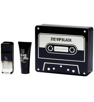 CAROLINA HERRERA 212 VIP BLACK COFFRET SET (EDP 100ML + SHOWER GEL 100ML)
